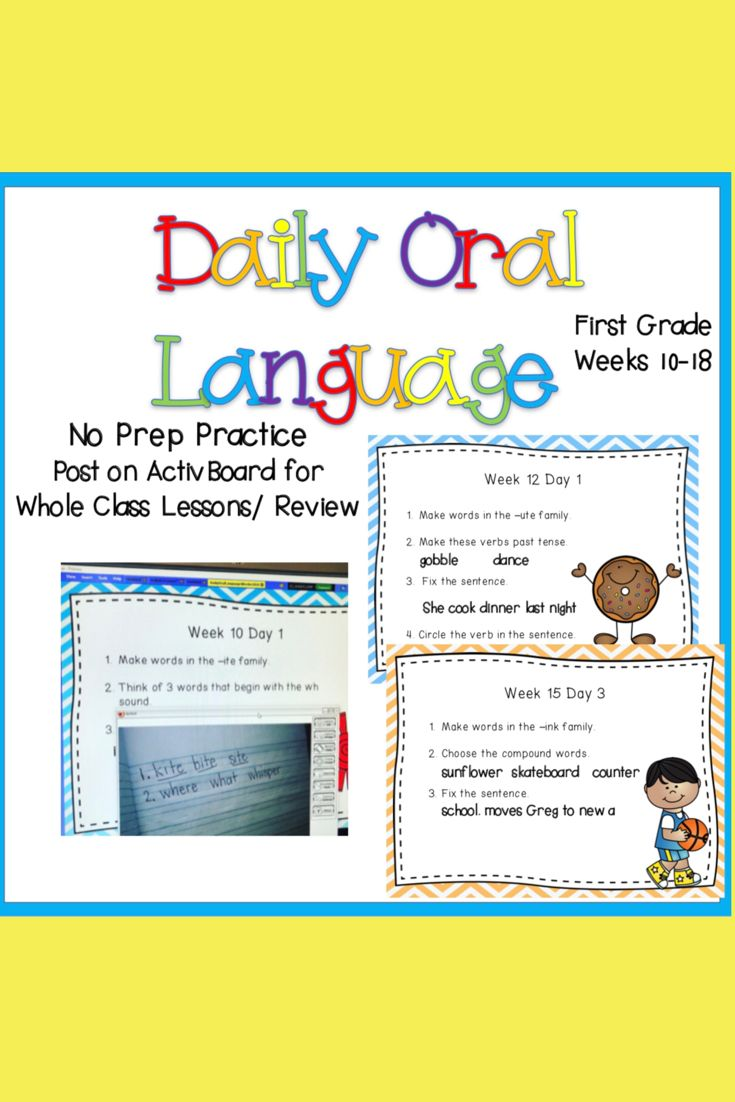 Daily Oral Language Practice 2nd 9 Weeks Daily Oral Language Oral Word Families [ 1102 x 735 Pixel ]