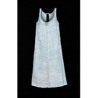 Checked high-waist apron, 1800-1820, of the sort servants wore, or women who worked in the home.