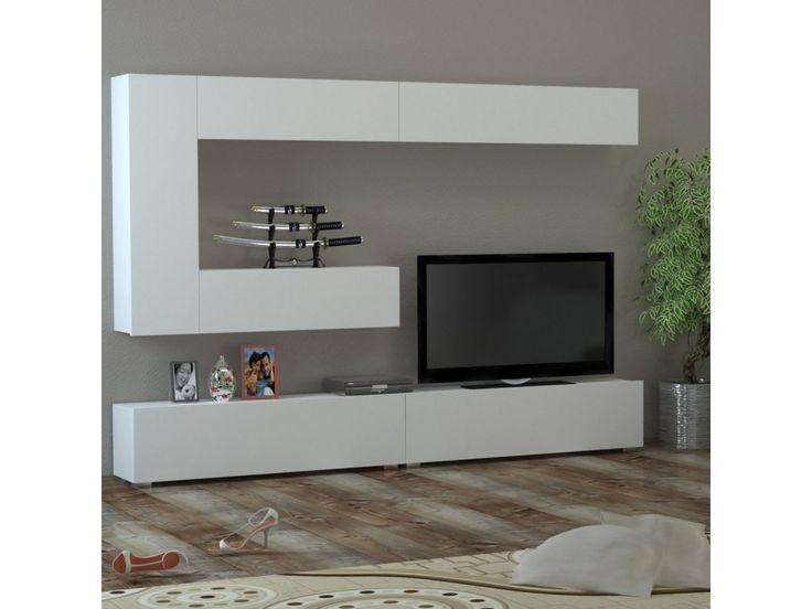 <p>Bílá dokonalost! 240cm široká obývací stěna je ideální pro velké…