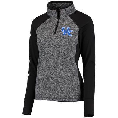 Kentucky Wildcats Women's Finalist Quarter-Zip Pullover Jacket - Gray/Black