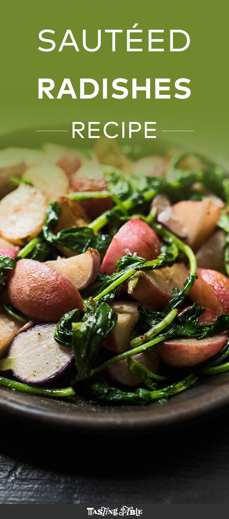 Watch and learn how to make simply cooked radishes with their greens.