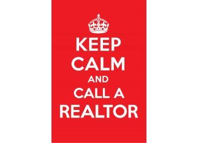Keep Calm and Call a Realtor Postcard http://postcardspromo.com