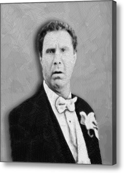 Will Ferrell Old School on Stretched Canvas by RubinoFineArt, $70.00
