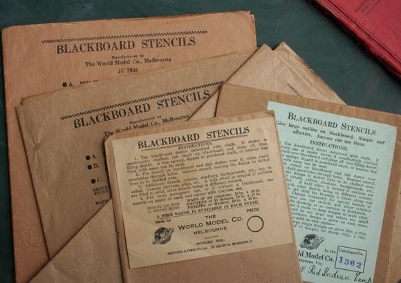 Vintage Blackboard Stencils