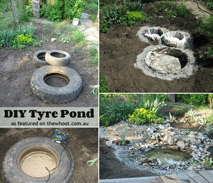 31 best pond images on pinterest backyard ideas backyard ponds tyre pond solutioingenieria Choice Image