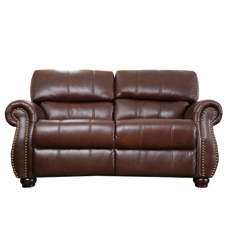 Abbyson Living Ashley Premium Top Grain Leather Loveseat   Overstock™  Shopping   Great Deals On Abbyson Living Sofas U0026 Loveseats