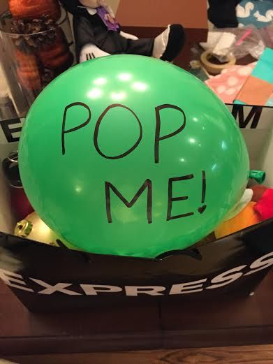 Fold up a tiny piece of paper and put it in a balloon. What a cute way to share a message!
