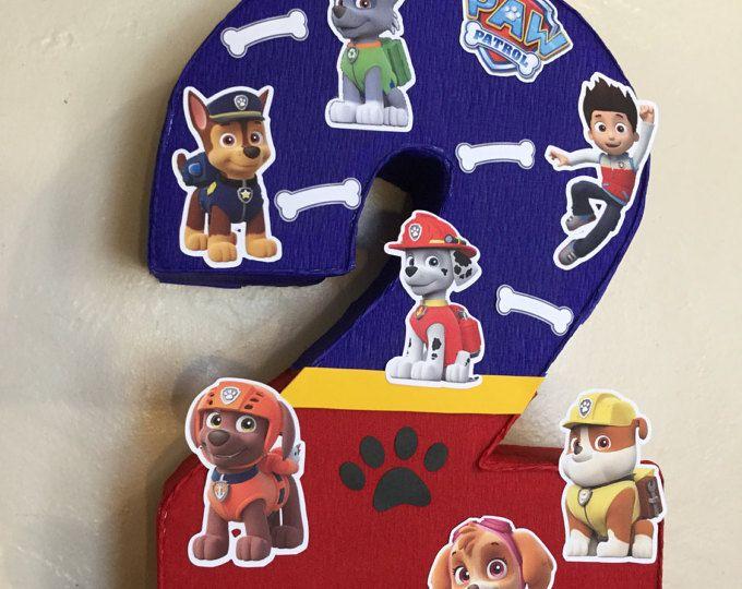 paw patrol number piñata. paw patrol . paw patrol themed. paw patrol birthday Party.
