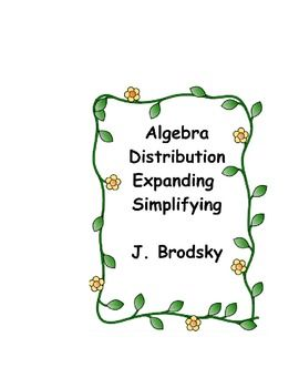 In this activity, the students are given a sheet of paper with 4 Algebraic Expansion questions, along with all of the steps required to expand and simplify the expression.   The steps are scrambled up and it is the student's job to unscramble the steps.
