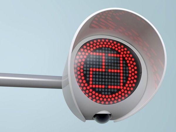 Traffic light, display, led