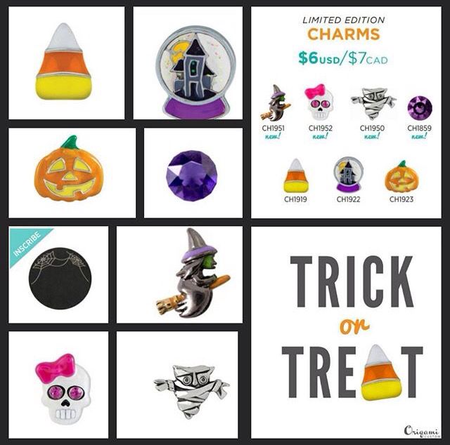 2015 Origami Owl Halloween Collection   Shop on my webpage at rhondalittle.origamiowl.com and be sure to follow my Facebook page at https://www.facebook.com/Origami-Owl-Rhonda-Little-Independent-Designer-952240621507209/timeline/?ref=aymt_homepage_panel