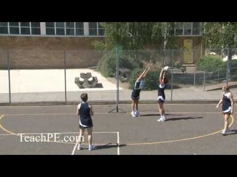 Netball Drill - Attack - On and Off Attack level 2 - Circle Edge Drive