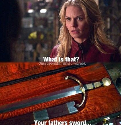 "Emma: 'What is that?' Mr Gold: 'Your father's sword' - 1.22 ""A Land Without Magic"""