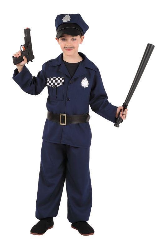 DisfracesMimo, disfraz de policia niño varias tallas. Con este traje de Policía infantil te convertirás en un auténtico agente de la justicia. Este disfraz es ideal para tus fiestas temáticas de disfraces de policias infantiles. fabricacion nacional.