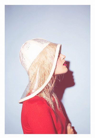 THE GUARDIAN 11/10/13  Wanda Nylon clear Charlotte hat, £225 -  www.brownsfashion.com Stylist: Priscilla Kwateng. Photographer: Paul Farrell