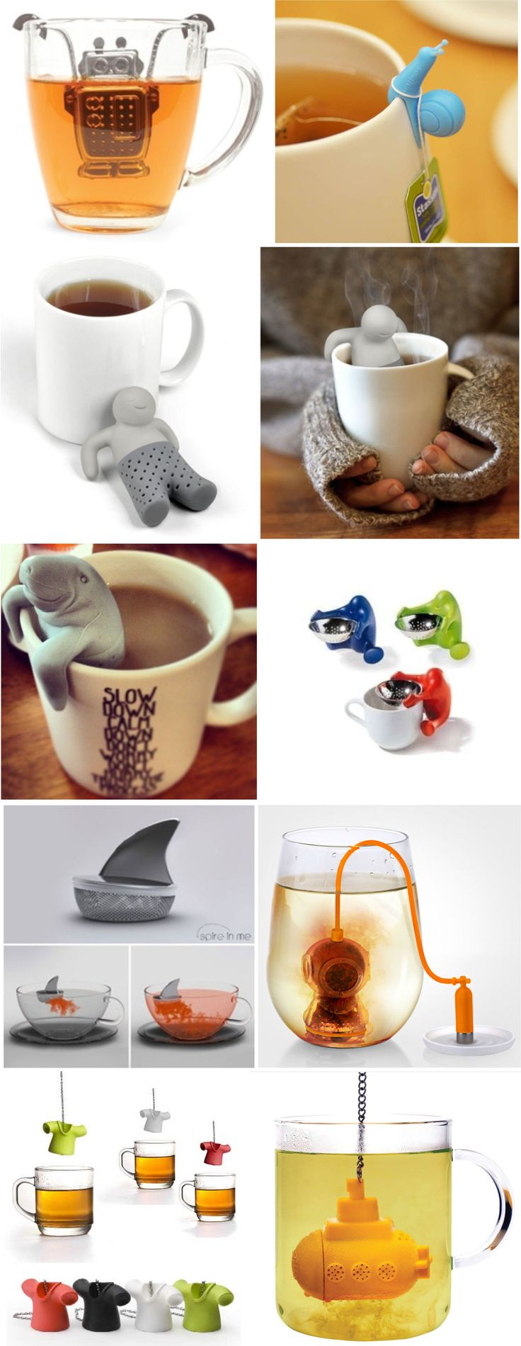 tea infuser - I need one of these if I want to try loose leaf tea, which I do! :) maybe the Mana-tea or something else REALLY cute like it! :)