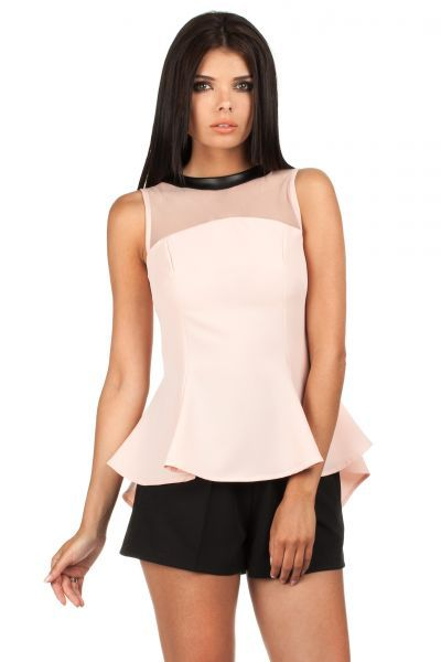 Pink Ladies blouse with a translucent top