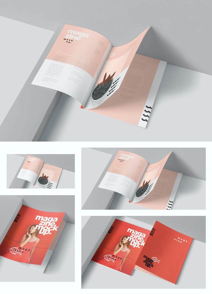 Magazine Page Mockup Psd Mockup Design Design Template Mockup Psd