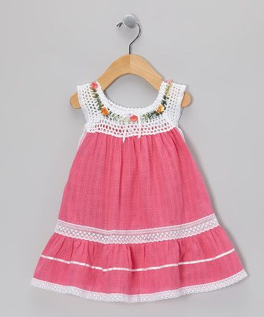 Take a look at this Magenta Lucila Dress - Infant, Toddler & Girls by Little Cotton Dress on #zulily today!