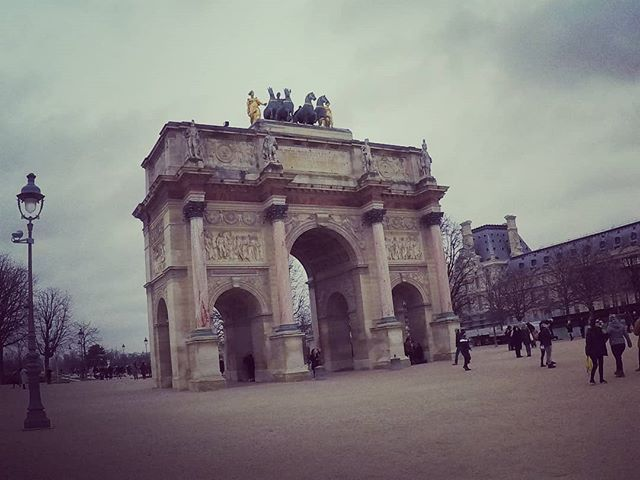 Arc De Triomphe Du Carrousel Often Overlooked As It Is Placed