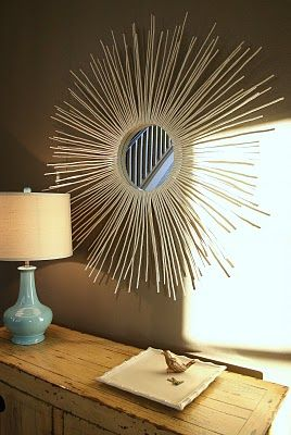 I'm loving this DIY Sunburst Mirror (you have to click a few links to get to the actual tutorial)