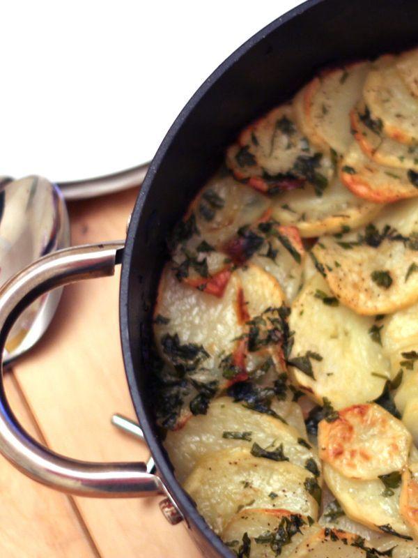 Crispy Garlic Potato Roast - Erren's Kitchen