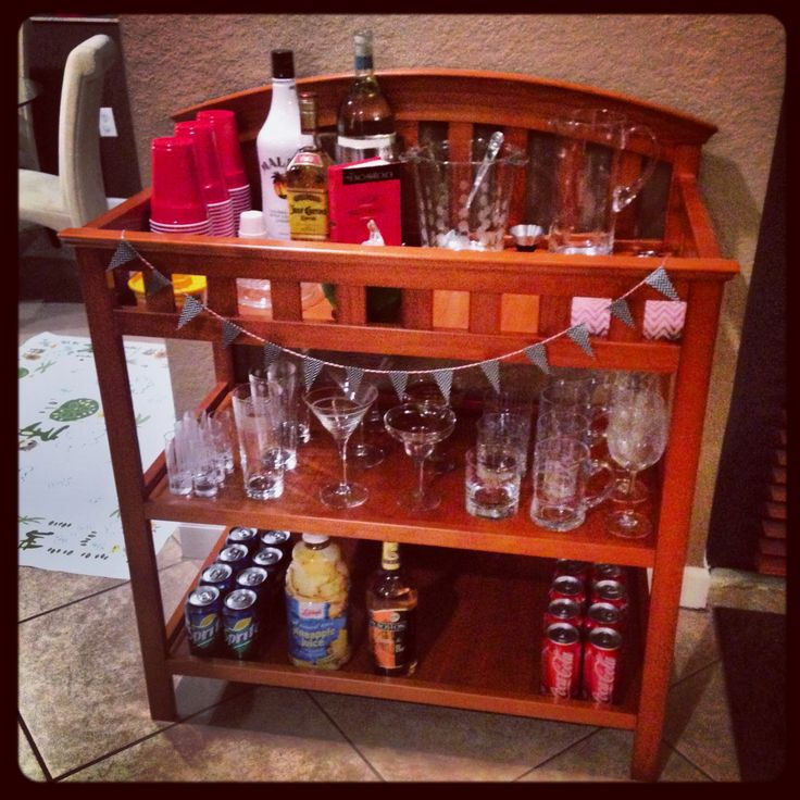 Diy Changing Table Turned Home Bar Amp Mini Twine And Washi