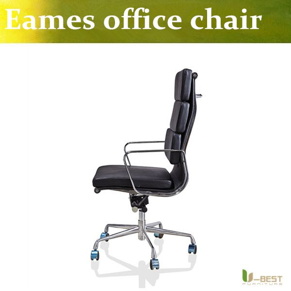 Modern U BEST high back backrest home office chair with wheels ergonomic chair with real lather Minimalist - Simple Elegant office chair with wheels Simple