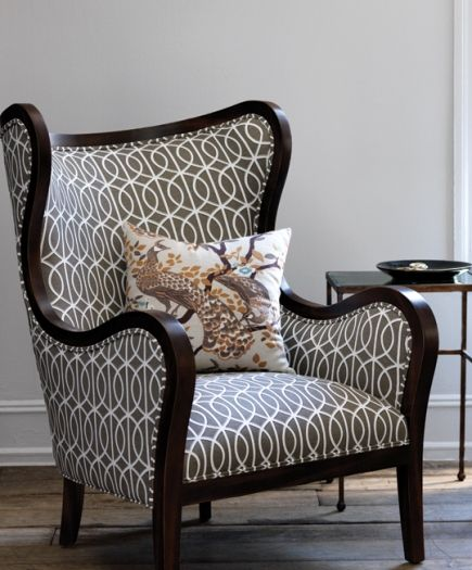 Attrayant Robert Allen Furnitureu0027s Modern Wingchair Shown Upholstered In Gate In  Brindle From Eclectic Modern, The