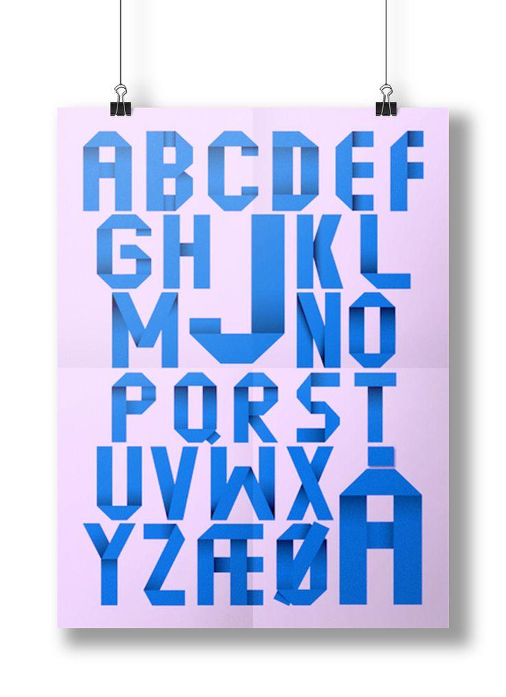ABC plakat //alphabet poster.  #Alphabet #abc #poster #design