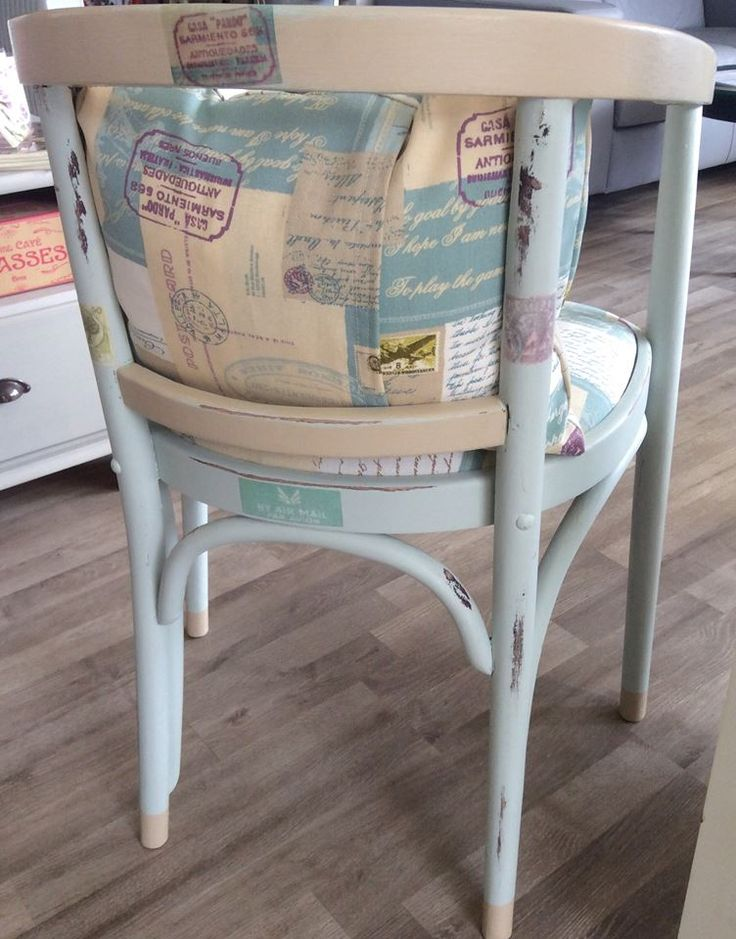 Cream and duck egg chalky paint chair https://www.facebook.com/CraftedMerchant