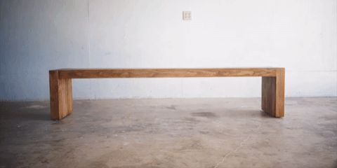 Build This Beautiful Modern Bench Using Nothing But 2 x 4s                                                                                                                                                                                 More