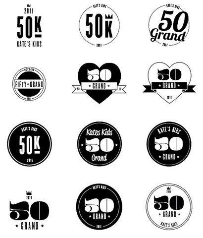 logo variationsDesign Inspiration, Identity, 50 Grand, Logo Inspiration, Logo Development, Logos Design, Graphics Design, Grand Icons, Design Essential