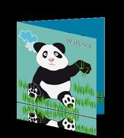 Adoptie aankomstkaart China Panda