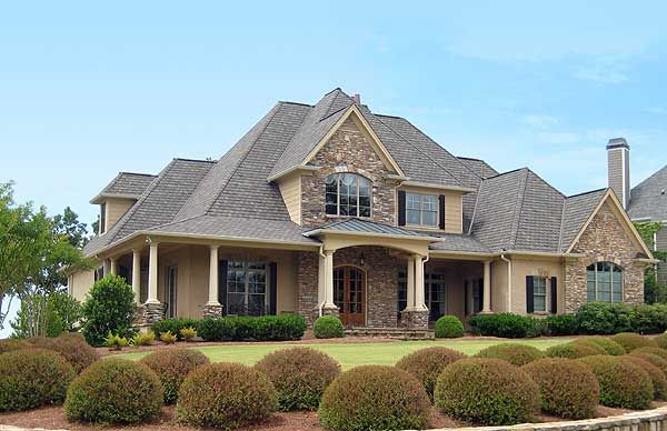 91 best images about brick and stone exterior on pinterest for Southern french country house plans