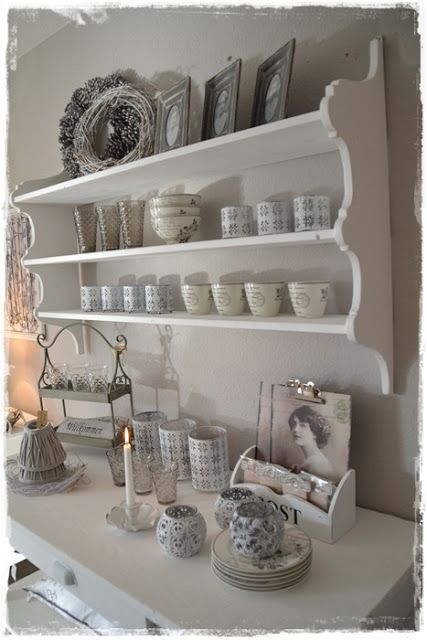 shelf for tea cup collection