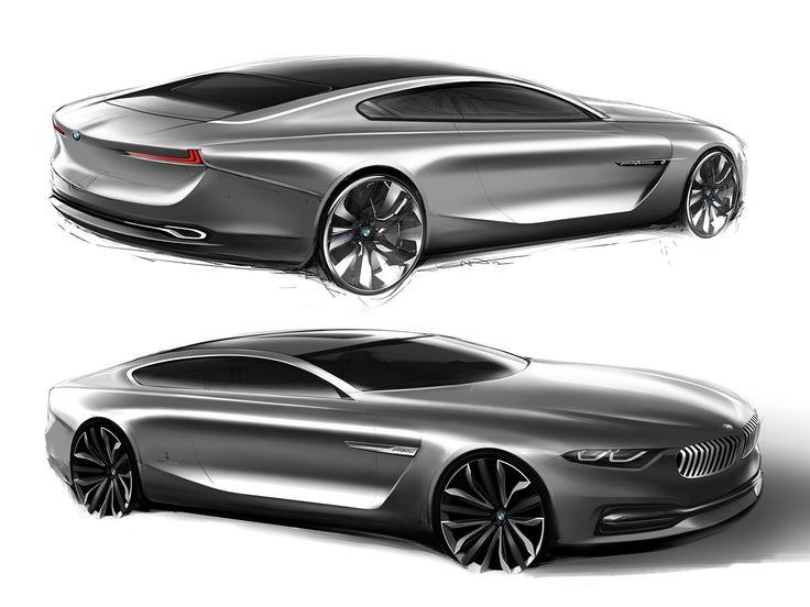 BMW Pininfarina Gran Lusso Coupe Design Sketches
