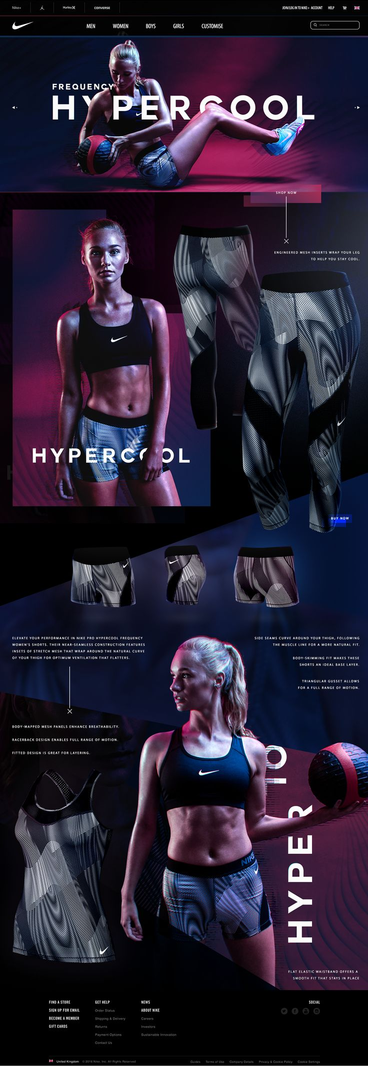 Nike 'HYPERCOOL Frequency' Campaign - Summer 2016 on Behance