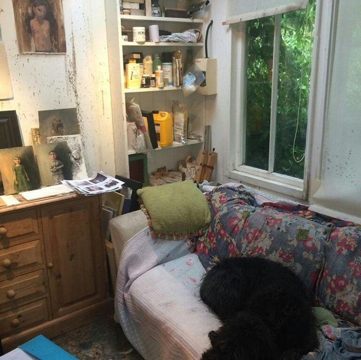 Bobbie Russon's studio.