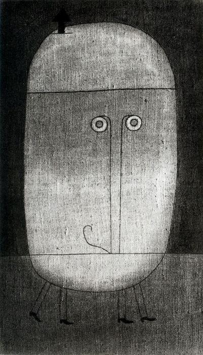 Mask of Fear de Paul Klee (1879-1940, Switzerland)