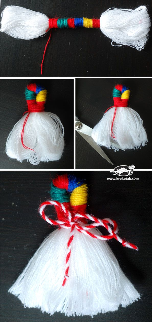 Yarn ORNAMENTS- martenitsas