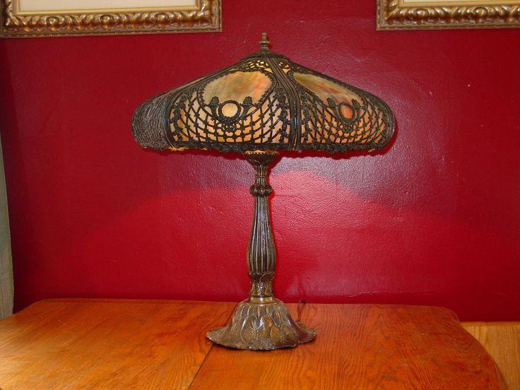 Custom made glass slumping of antique lamps or slag glass or lamp repair
