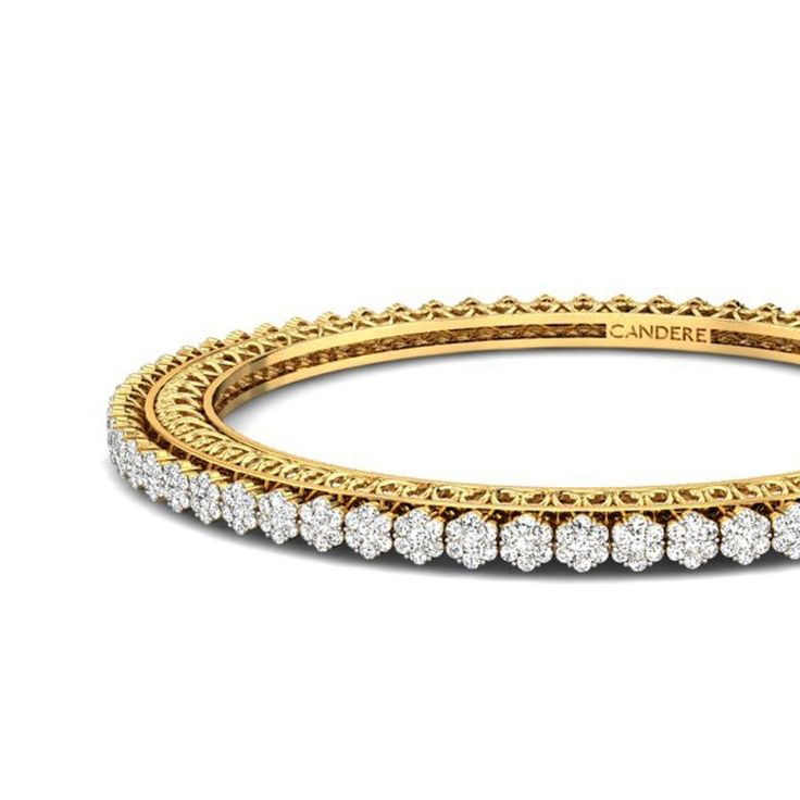 diamond stackable bracelets bangle gold eternity wedding bangles