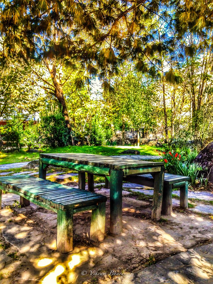 An inviting table in the midst of nature at Neeralaya.... A beautiful resort tucked away in the Kullu Manali district of Himachal Pradesh, India