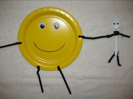 """""""The Dish Ran Away with the Spoon Craft"""" for a Nursery Rhyme Theme Day"""