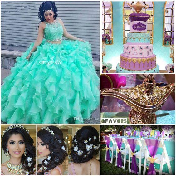 Princess Jasmine Theme Quinceanera | Aladdin Disney | Sweet 16 | Quinceanera Ideas |