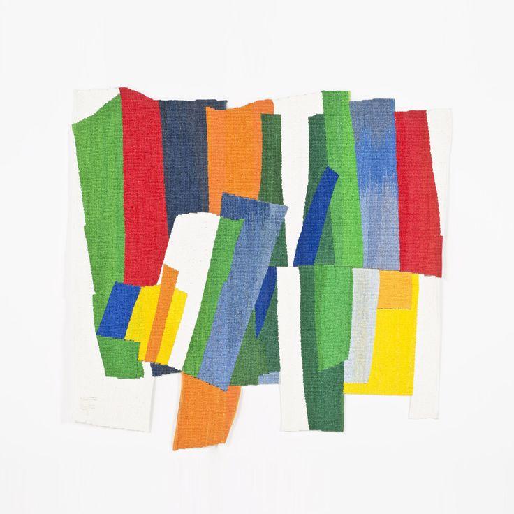 Françoise Paressant (née en 1944) Maia, 2013 Tapisserie en polyane découpé, peint et tissé Monogrammée en bas à gauche, bolduc signé, titré et daté 2013 au dos Exemplaire unique 130 x 132 cm