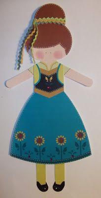 cartoncino mio: Bamboline di carta Frozen Fever