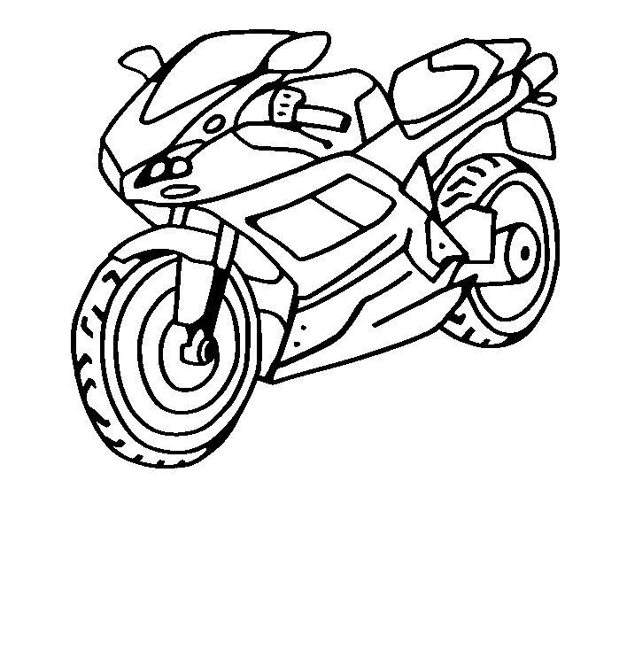 Coloriage Moto Facile Coloriagedehibou