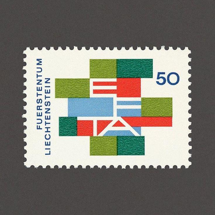 The Revocation of Customers Boundaries in the European Free Trade Association. EFTA. Liechtenstein, 1967. Design: Josef Seger. #graphilately #mnh #graphiLiechtenstein